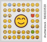 set of emoticon vector isolated ... | Shutterstock .eps vector #583323520