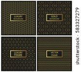 seamless pattern template.... | Shutterstock .eps vector #583327279