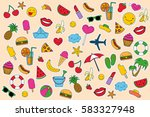 summer day  set of elements... | Shutterstock .eps vector #583327948