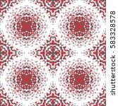 vector abstract seamless pixel... | Shutterstock .eps vector #583328578