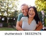 portrait of loving mature... | Shutterstock . vector #583329676