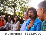 group of mature friends... | Shutterstock . vector #583329700