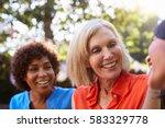 mature female friends... | Shutterstock . vector #583329778