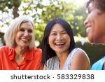 mature female friends... | Shutterstock . vector #583329838