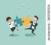 business teamwork concept.... | Shutterstock .eps vector #583330324