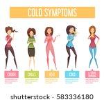 flu cold or seasonal influenza... | Shutterstock .eps vector #583336180