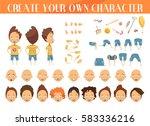 creation of cartoon character... | Shutterstock .eps vector #583336216
