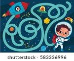space boy  vector illustration... | Shutterstock .eps vector #583336996