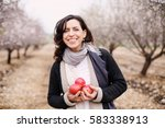 outdoor portrait of 40 years... | Shutterstock . vector #583338913