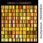 gold gradients 100 big set.... | Shutterstock .eps vector #583340824