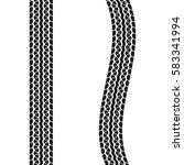 tire treads isolated on white... | Shutterstock .eps vector #583341994
