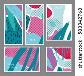 set of creative universal... | Shutterstock .eps vector #583342768