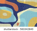 creative geometric colorful... | Shutterstock .eps vector #583342840
