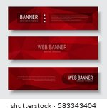 set of horizontal web banners... | Shutterstock .eps vector #583343404