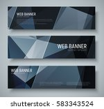 design of horizontal banners... | Shutterstock .eps vector #583343524