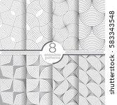 set of vector seamless patterns.... | Shutterstock .eps vector #583343548