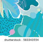 creative geometric colorful... | Shutterstock .eps vector #583343554