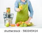 anonymous woman wearing an... | Shutterstock . vector #583345414