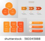 vector infographic set.... | Shutterstock .eps vector #583345888