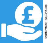 Pound Coin Payment Hand Vector...