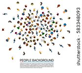 big people crowd on white... | Shutterstock .eps vector #583348093