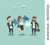 business teamwork concept.... | Shutterstock .eps vector #583352026