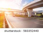 highway interchange with bridge ... | Shutterstock . vector #583352440