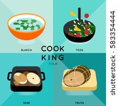 cook king four 4 of cooking... | Shutterstock .eps vector #583354444