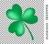 green shamrock leaf icon... | Shutterstock .eps vector #583354906