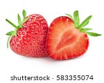 strawberry isolated on white... | Shutterstock . vector #583355074