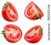 tasty tomatoes collection... | Shutterstock . vector #583355146
