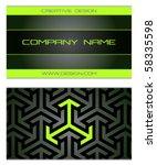 business cards set 48   Shutterstock .eps vector #58335598