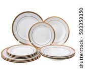 Small photo of Dinner set isolated