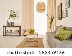 cozy living room with couch and ... | Shutterstock . vector #583359166