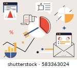 vector illustration of business ... | Shutterstock .eps vector #583363024