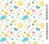 seamless pattern in the concept ... | Shutterstock .eps vector #583363219