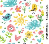 seamless pattern in the concept ... | Shutterstock .eps vector #583363228