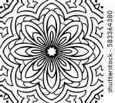 abstract simple mandala pattern.... | Shutterstock .eps vector #583364380