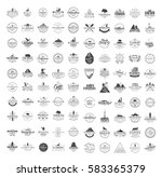 big set of 100 premium labels... | Shutterstock . vector #583365379