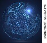 futuristic globalization... | Shutterstock .eps vector #583366198