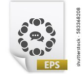 conference icon vector flat... | Shutterstock .eps vector #583368208
