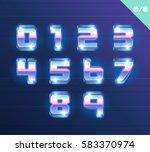vector 80's style metallic... | Shutterstock .eps vector #583370974