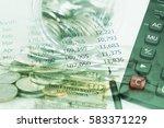 double exposure and green... | Shutterstock . vector #583371229