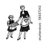 mother and daughter baking  ... | Shutterstock .eps vector #58337242