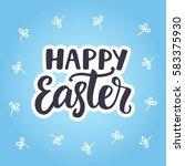 happy easter typography poster... | Shutterstock .eps vector #583375930