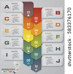 10 options abstract timeline... | Shutterstock .eps vector #583376170