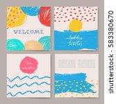 summer collection. sea... | Shutterstock .eps vector #583380670