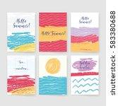 summer collection. sea... | Shutterstock .eps vector #583380688