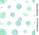 vector seamless pattern with... | Shutterstock .eps vector #583387030