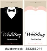 set of wedding card flyer pages ... | Shutterstock . vector #583388044